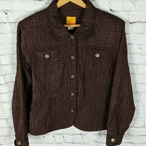Ruby Rd Chocolate Brown Jacket